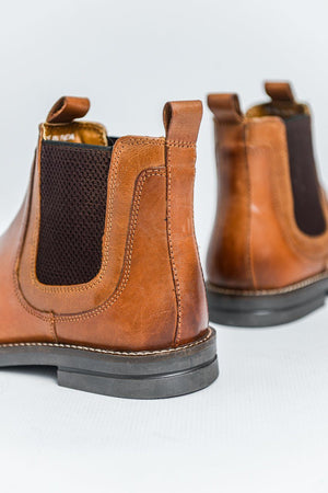 Roamers Leather Chelsea Boots - Tan