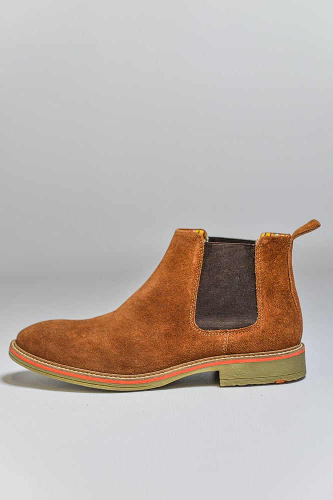 Roamers Suede Chelsea Boots - Sand Sand UK 6