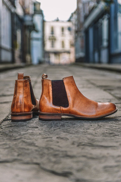 Roamers Tan Leather Chelsea Boots Tan UK 6
