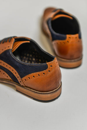Roamers Tan Leather with Suede Shoes