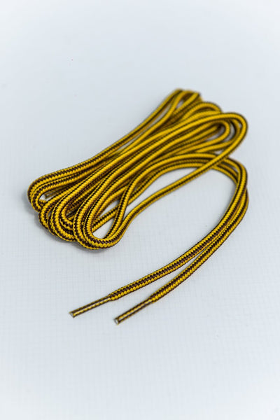 Round 140cm Textile Laces - Chocolate/Gold