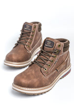 Route 21 Casual Winter Style Boot - Brown