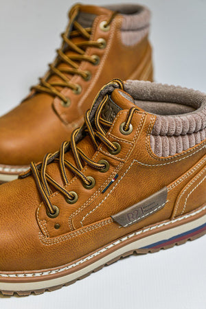 Route 21 Casual Winter Style Boots - Honey