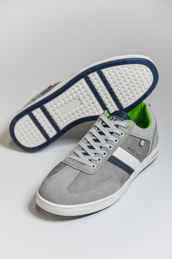 Route 21 Memory Foam Casual Trainers - Grey