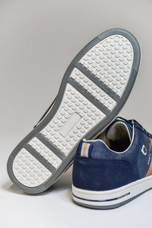 Route 21 Memory Foam Casual Trainers - Navy