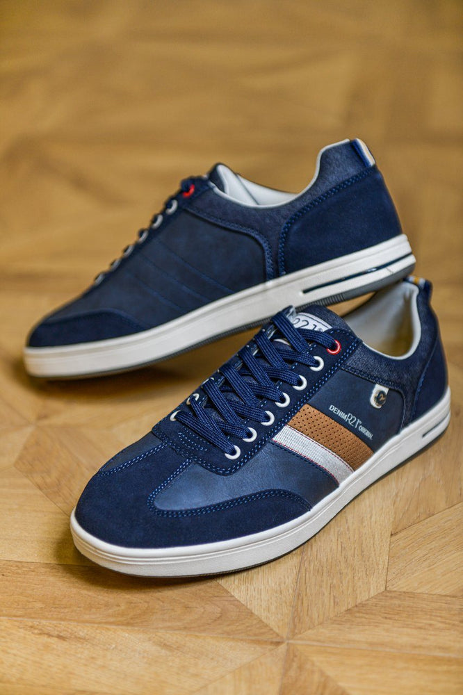 Route 21 Memory Foam Casual Trainers - Navy Navy UK 6