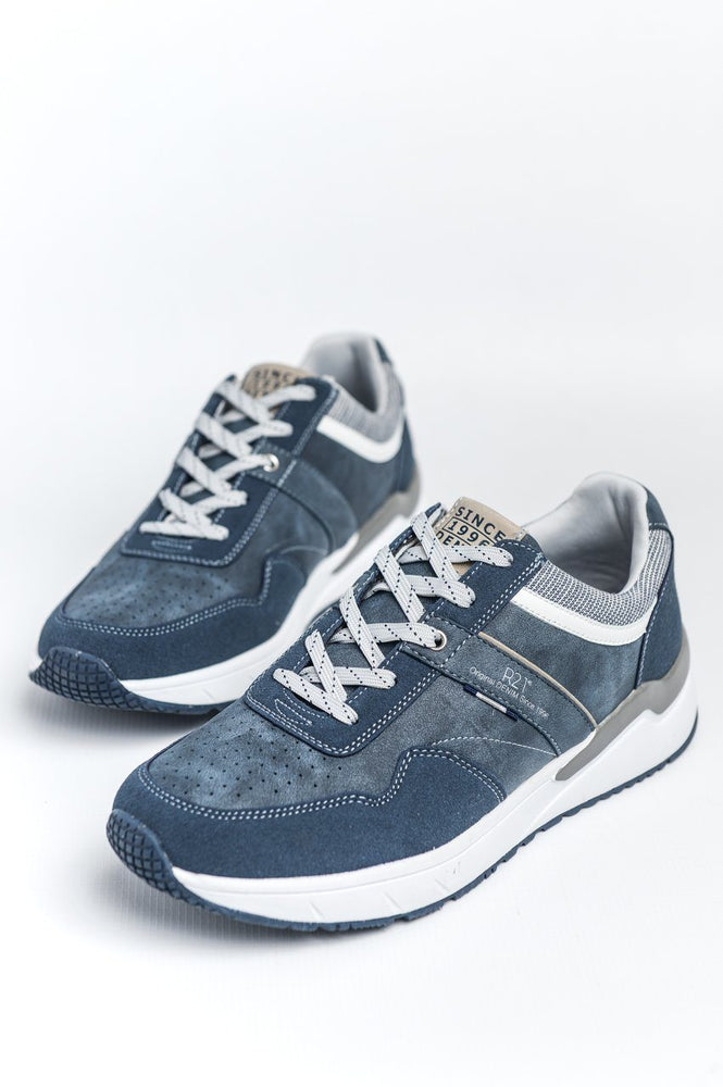 Route 21 Retro Style Trainer - Navy