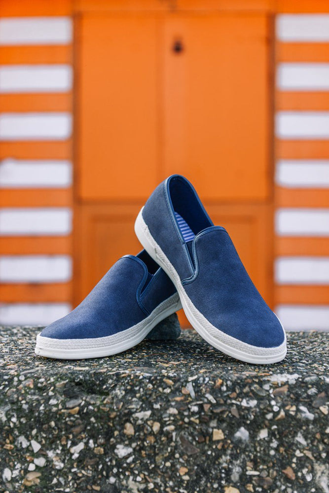 Route 21 Slip-on Espadrilles - Navy Navy UK 7