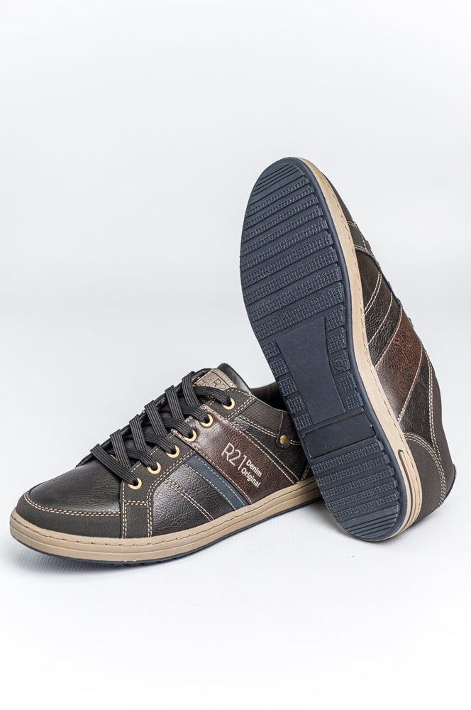Route 21 Textile Trainers - Brown