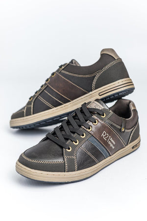 Route 21 Textile Trainers - Brown Brown UK 6