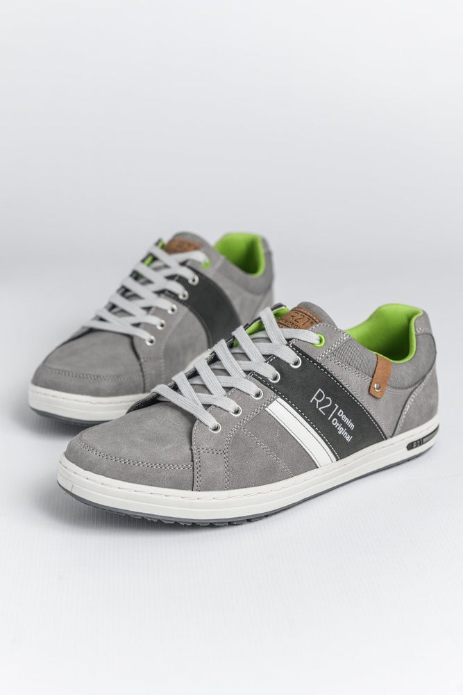 Route 21 Textile Trainers - Grey
