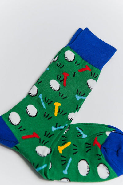 Sock Society Golf Cotton Socks Green/Blue