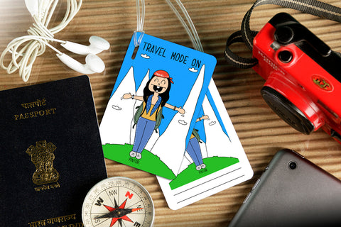 Travel Mode On Luggage Tag
