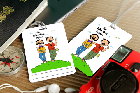 Adventure Begins Couple Luggage Tag