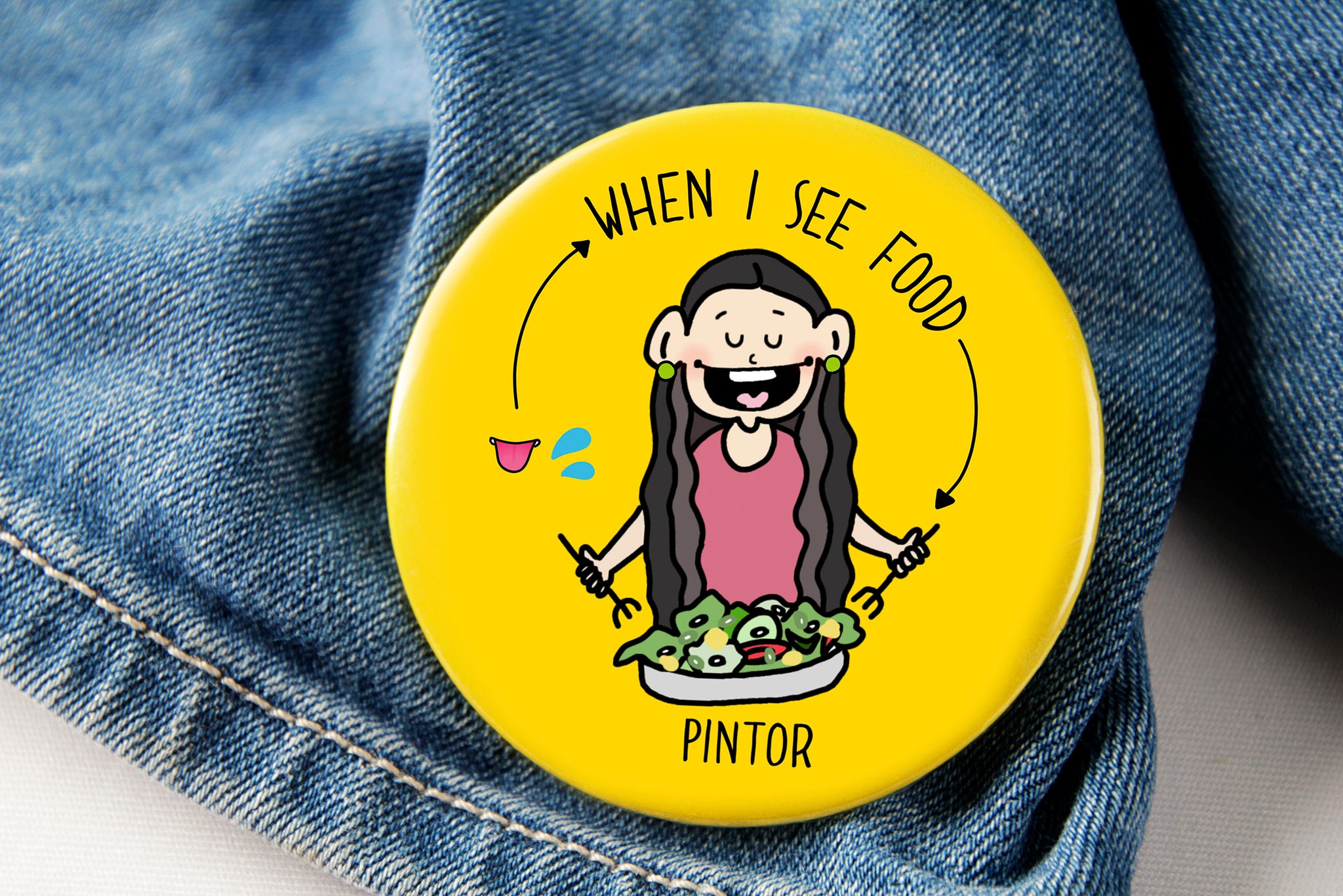 Foodie Pin Badge