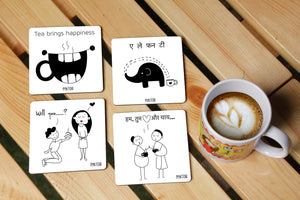Black & White Tea Coasters
