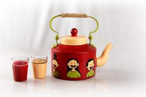 Cute Family Hand painted Kettle