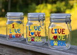 Live, Love, Bark - Dog Treat Jar - 1 L Size - Glass