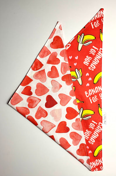 Bananas For You - Pet Bandana - Valentine's Day - Love - Over The Collar - Snapdana