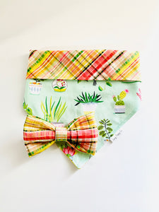 Little Plaid House Plants - Pet Bandana - Pet Bow Tie