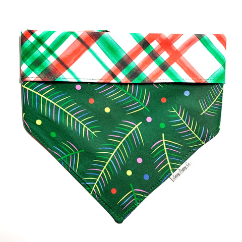 Plaid Boughs Pet Bandana