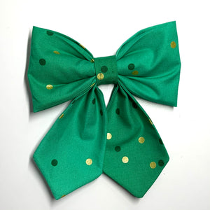 Golden Dots - Girlie Bow Tie - Pet Bow Tie