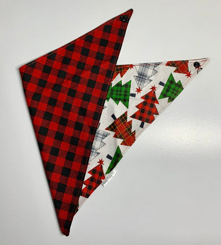 Buffalo Plaid Trees Pet Bandana