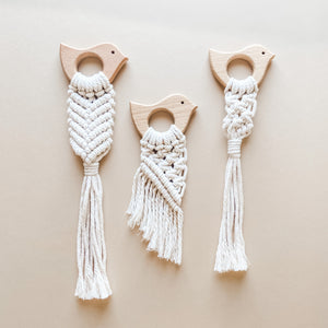Paloma, Fly with Me Macrame Teethers
