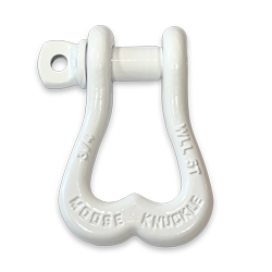 White Moose Knuckle D-Ring Towing and Recovery Shackle for Jeeps, Trucks, Toyota, Tacoma, 4x4's, SxS's, Side by Sides, UTVs and ATVs