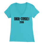 T-shirt Bella Womens V-Neck / Turquoise / S Okie Tokie! 2018 BELLA Ladies V-Neck T-Shirt