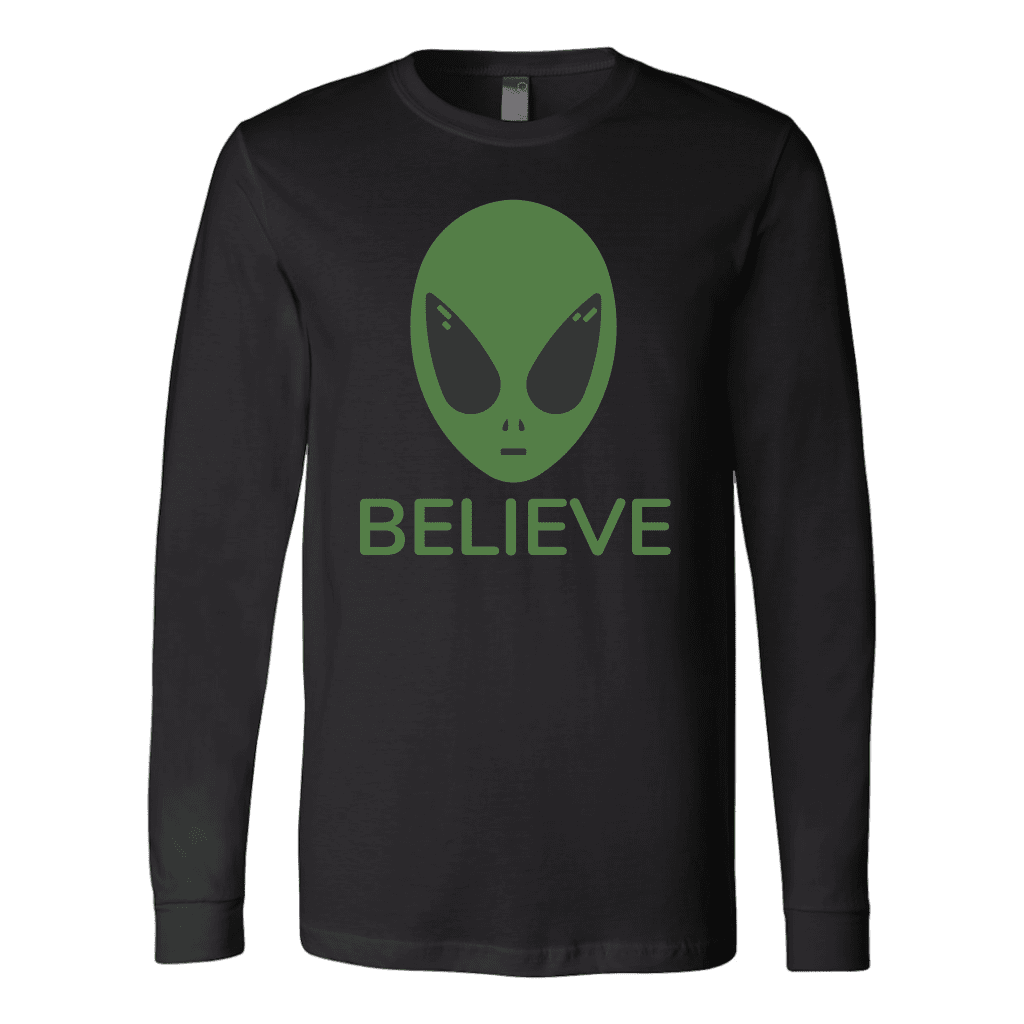 T-shirt Canvas Long Sleeve Shirt / Black / S BELIEVE- CANVAS Long Sleeve T-Shirt