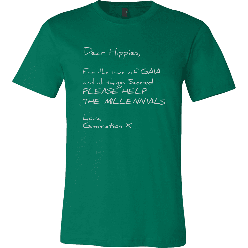 T-shirt Canvas Mens Shirt / Kelly Green / S Dear Hippies CANVAS T-Shirt