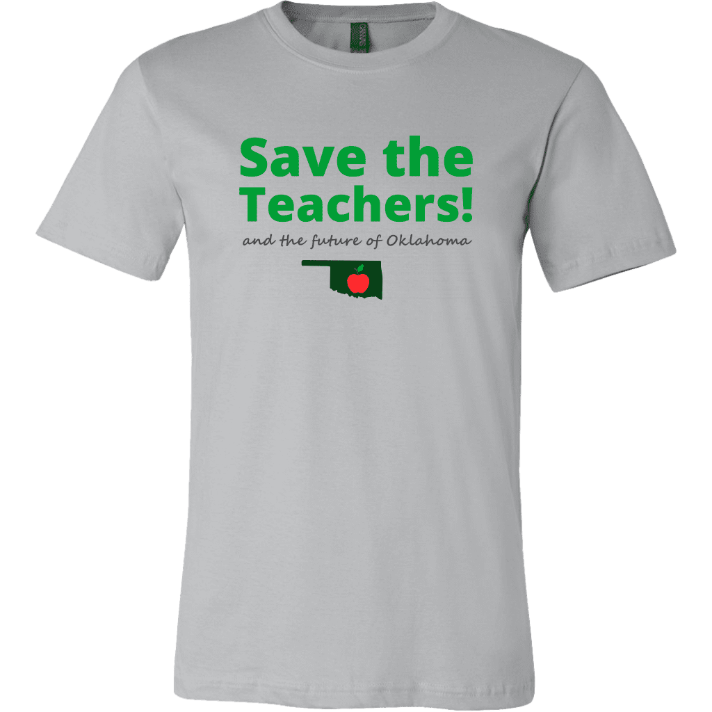 T-shirt Canvas Mens Shirt / Silver / S Save the Teachers CANVAS T-Shirt