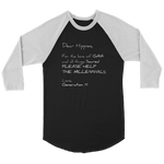 T-shirt Canvas Unisex 3/4 Raglan / Black/White / S Dear Hippies CANVAS 3/4 Length Sleeve Raglan