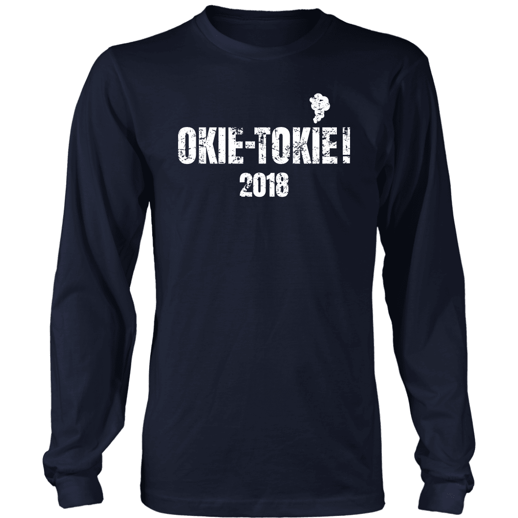 T-shirt District Long Sleeve Shirt / Navy / S Okie Tokie with Smoke Long Sleeve T-Shirt