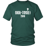 T-shirt District Unisex Shirt / Dark Green / S Okie Tokie Smoke T-Shirt