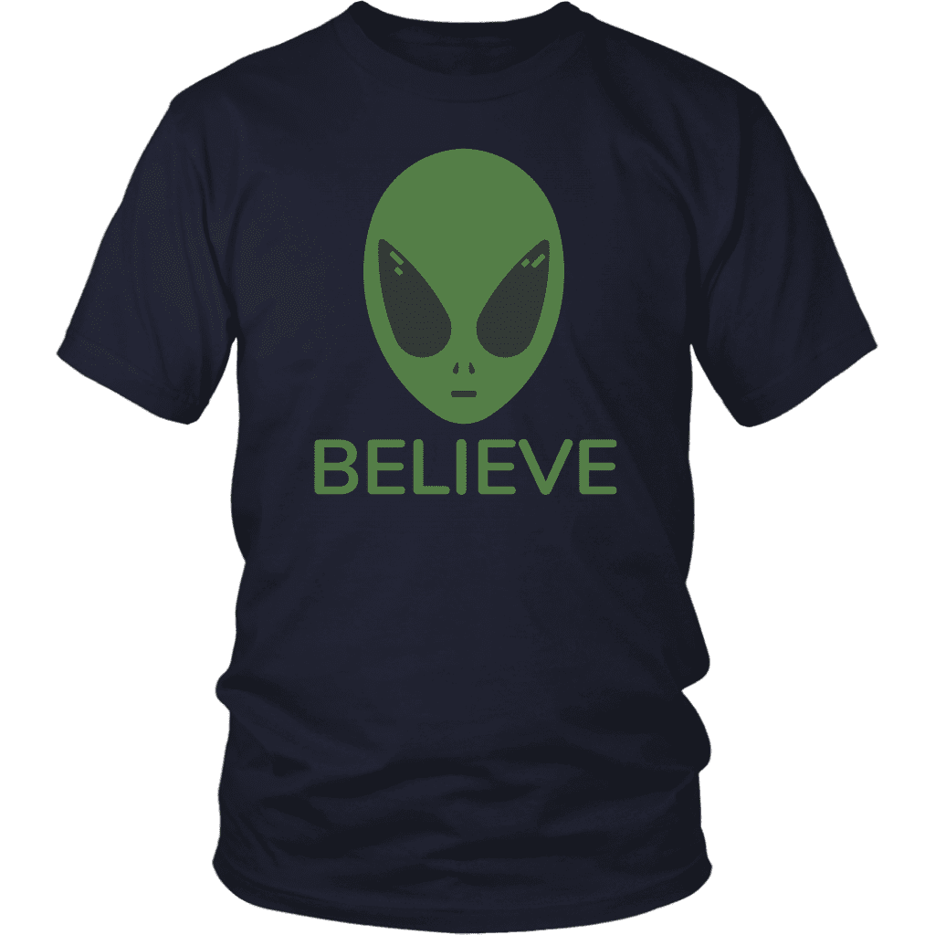 T-shirt District Unisex Shirt / Navy / S BELIEVE T-Shirt