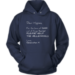 T-shirt Unisex Hoodie / Navy / S Dear Hippies Letter Hoodie