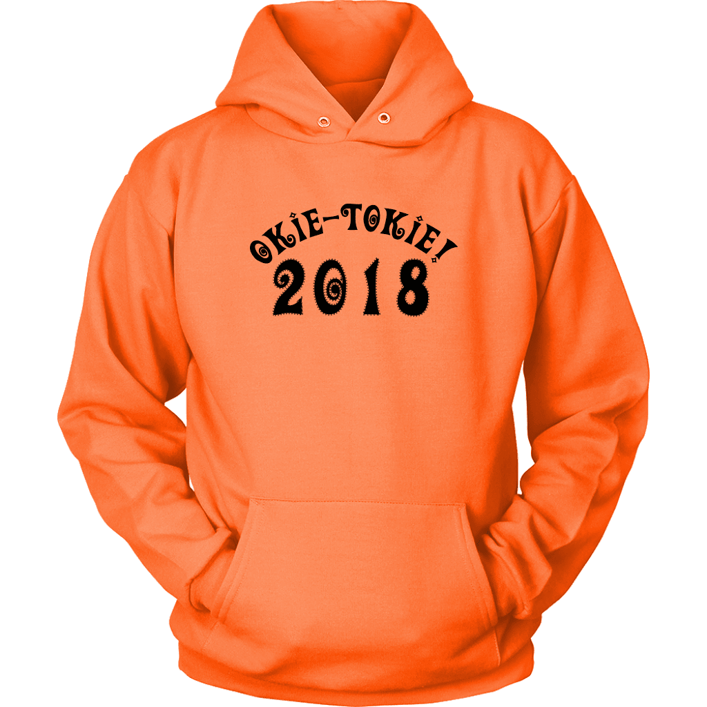 T-shirt Unisex Hoodie / Neon Orange / S Okie Tokie with Curlies Hoodie