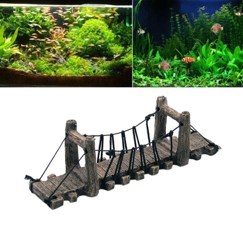 Imitation Bridge Decor For Turtle Terrace Aquarium Ornaments Fish Tank Landscape Wood Color Bridges Aquarium Decoration - Turtle Needs