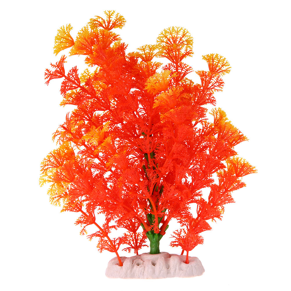 Orange Vanilla Artificial Aquarium Simulation False Plastic Aquatic plants Fish Tank Turtle Aquarium Decoration Ornament - Turtle Needs