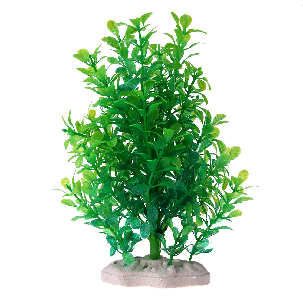 Artificial Aquarium Simulation False Plastic Aquatic plants Fish Tank Turtle Turret Landscaping Aquarium Decora Green Milan Tree - Turtle Needs