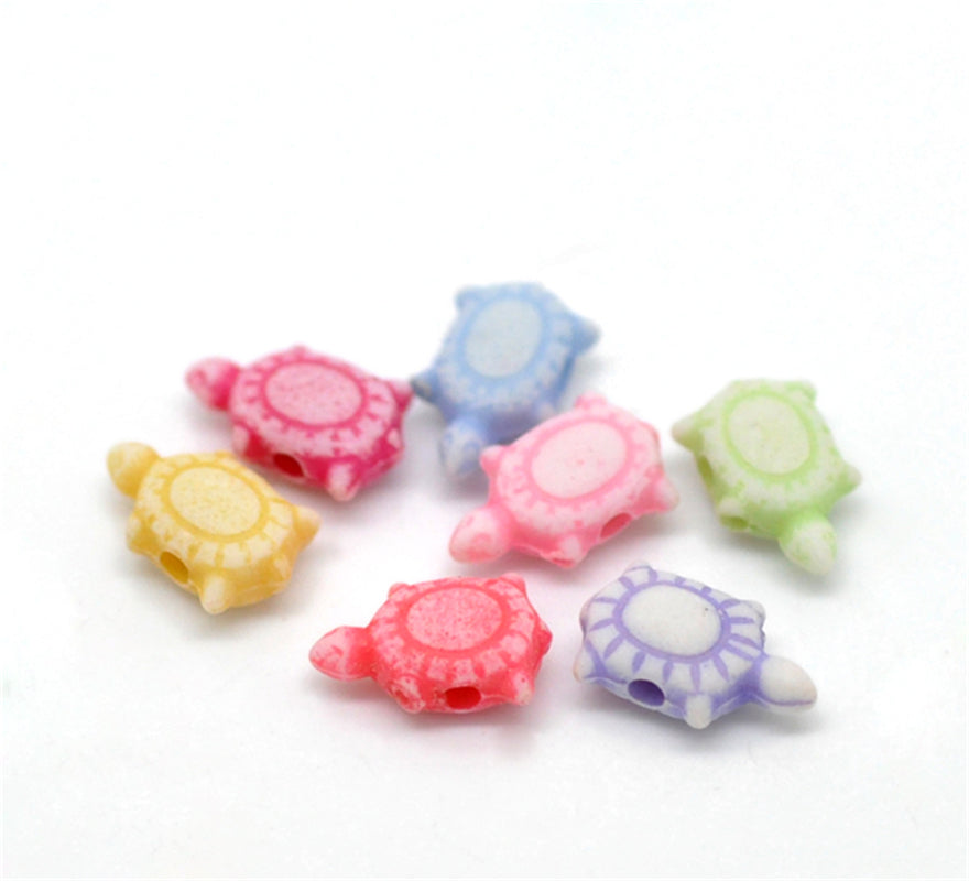 "DoreenBeads 1000PCs Mixed Turtle Acrylic Spacer Beads 10x6mm(3/8""x2/8"")(B21050), yiwu - Turtle Needs"
