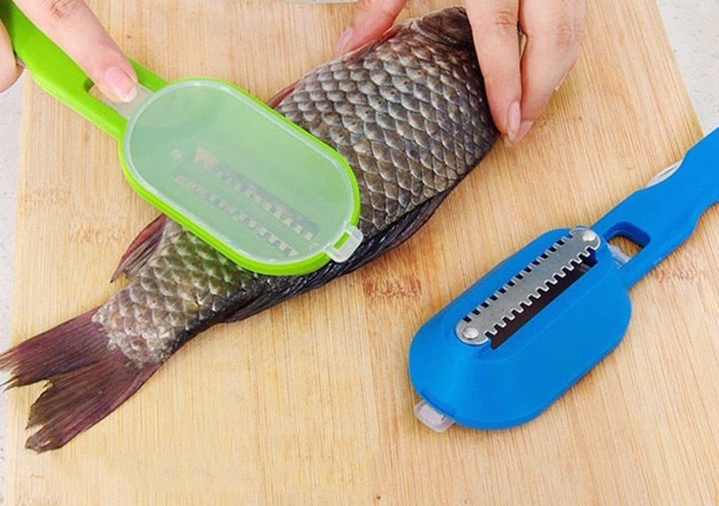 Scraping Scale Kill Fish With Knife Machine - Douhal
