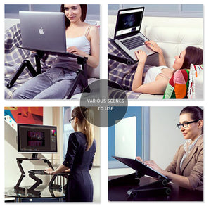 Table Computer desk Stand for Bed 360 degree rotation MultiFunctional - Douhal