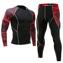 Load image into Gallery viewer, MMA Men Compression Sets Base Layer Tight Pants Workout Fitness Bodybuilding - Douhal