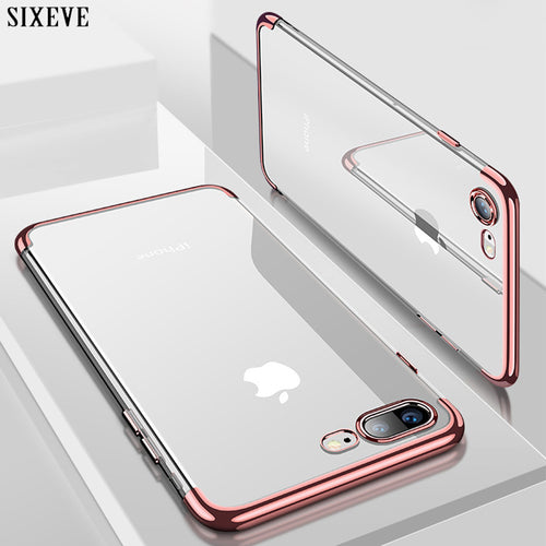 Silicon Clear Soft Case for iPhone X 10 iPhone 6S 6 s 6Plus 6SPlus iPhone 7 8 7Plus 8Plus - Douhal