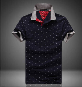 New Brand Polos Mens Printed POLO Shirts Cotton - Douhal