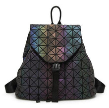 Load image into Gallery viewer, backpack Geometric Shoulder Student's School Bag Hologram Luminous - Douhal