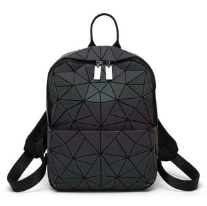 backpack Geometric Shoulder Student's School Bag Hologram Luminous - Douhal